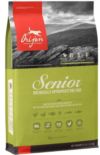 ORIJEN Senior High-Protein, Grain-Free, Premium Quality Meat, Adult Dry Dog Food